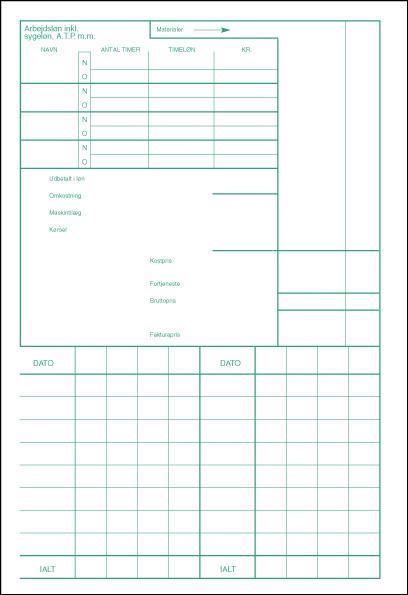 Arbejdsrapport - A5 (bag)